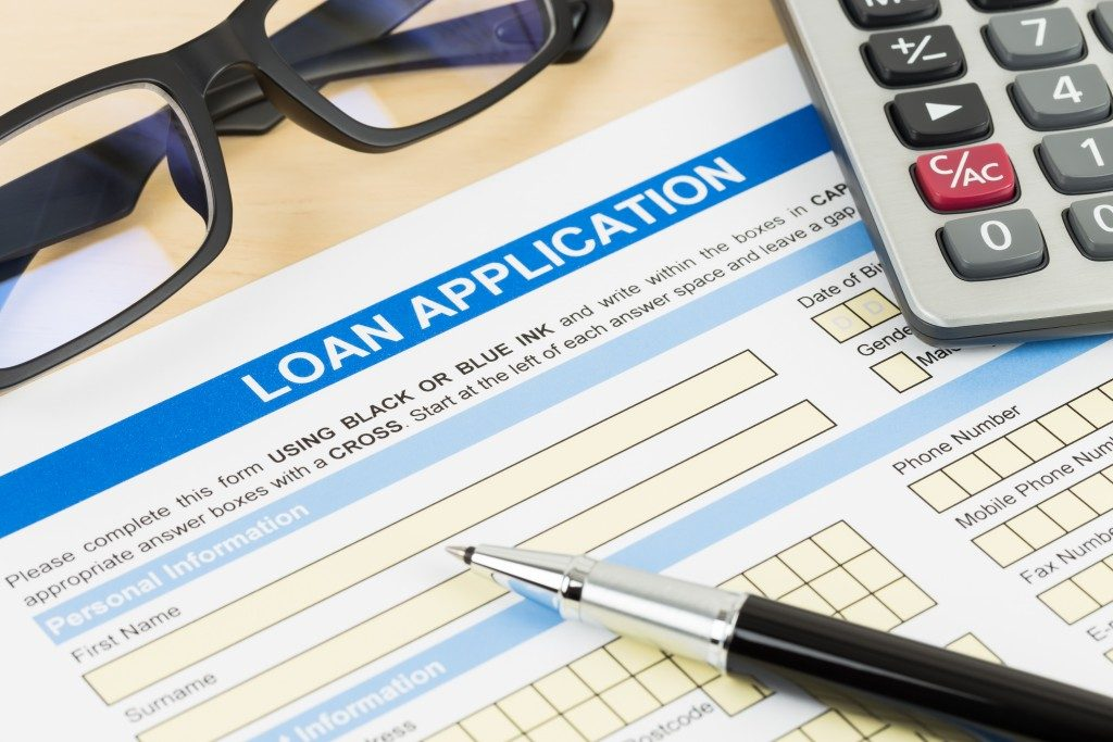 Loan Application with pen on top