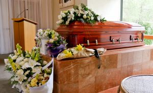 Funeral service at the chapel