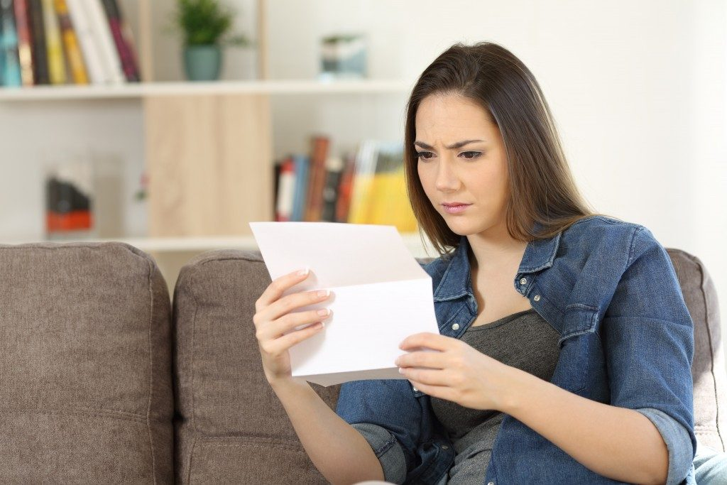 Tenant receiving a letter from the owner
