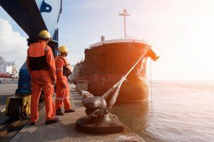 a ship cargo docking