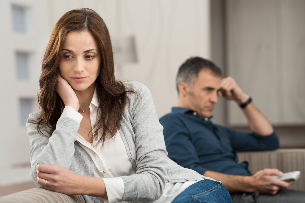 Couple suffering anxiety