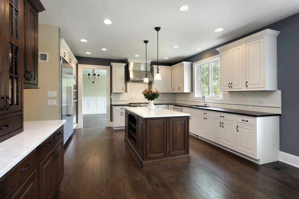 Wooden flooring kitchen