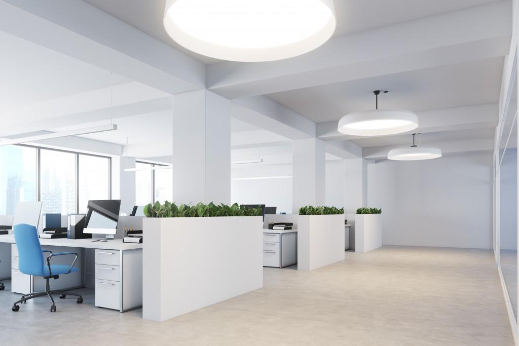Modern office with white theme