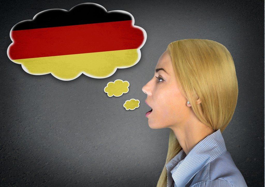 Woman speaking german
