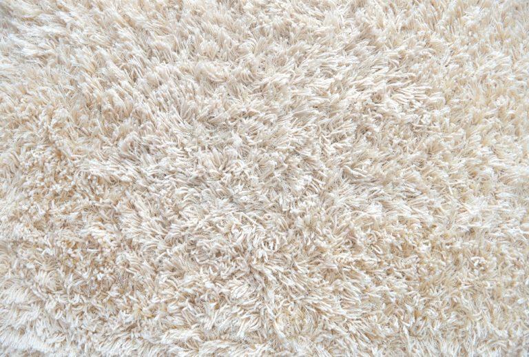 white wool carpet