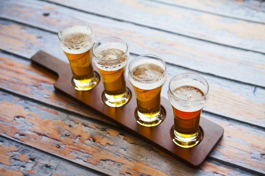 Beers in line
