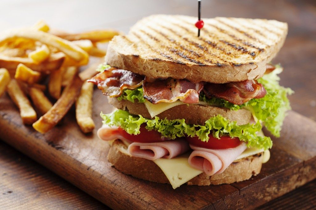 Sandwich with fries