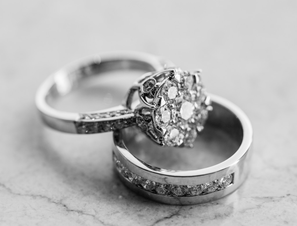 The engagement ring set