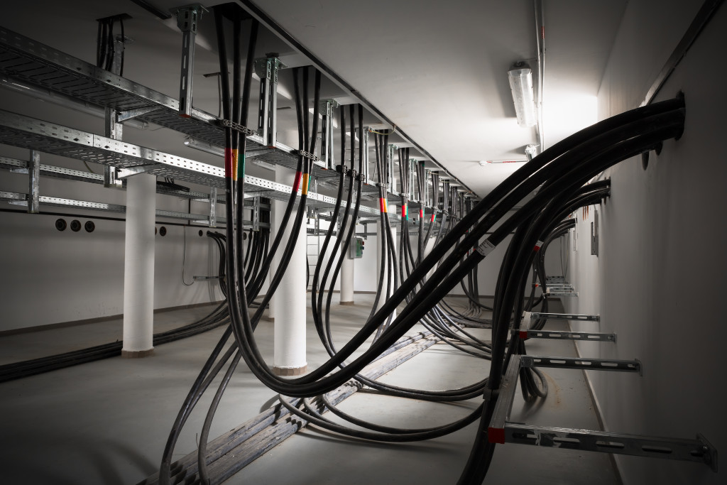 Electric wires in cellar