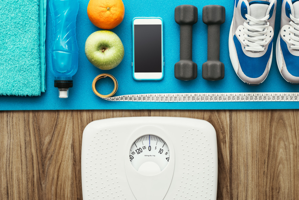 exercising equipment and items