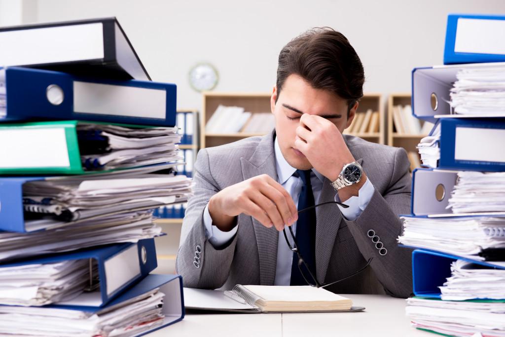 Tired employee