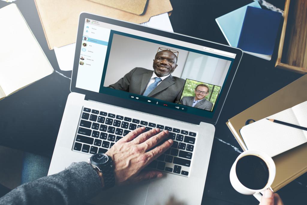 online meeting concept