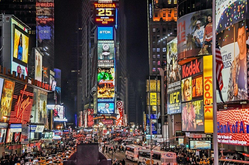ads on a street