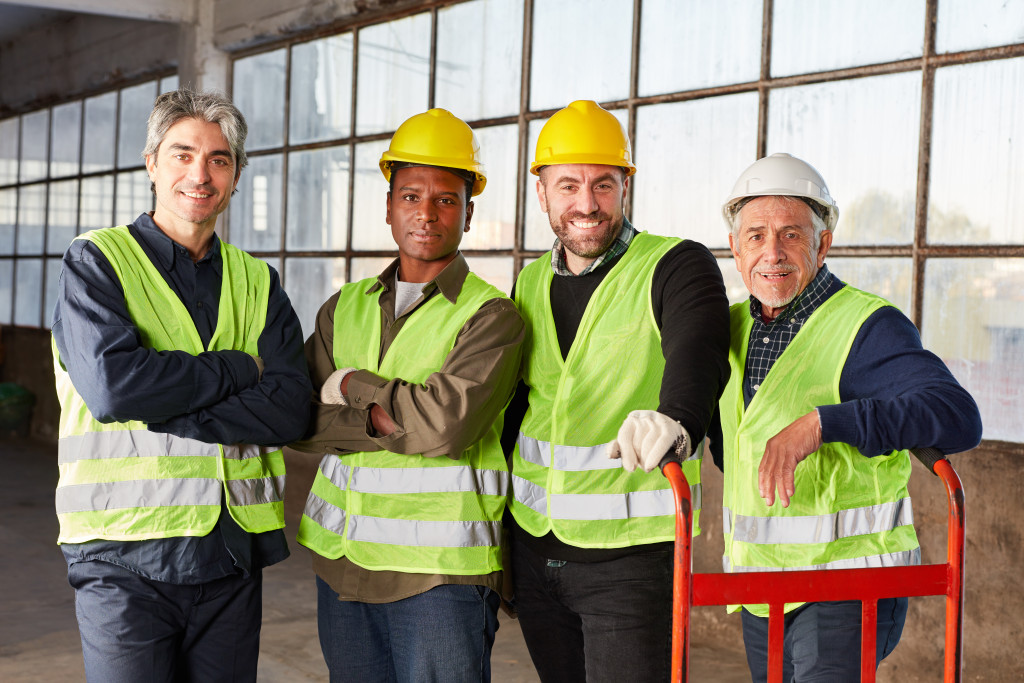 a group of workers