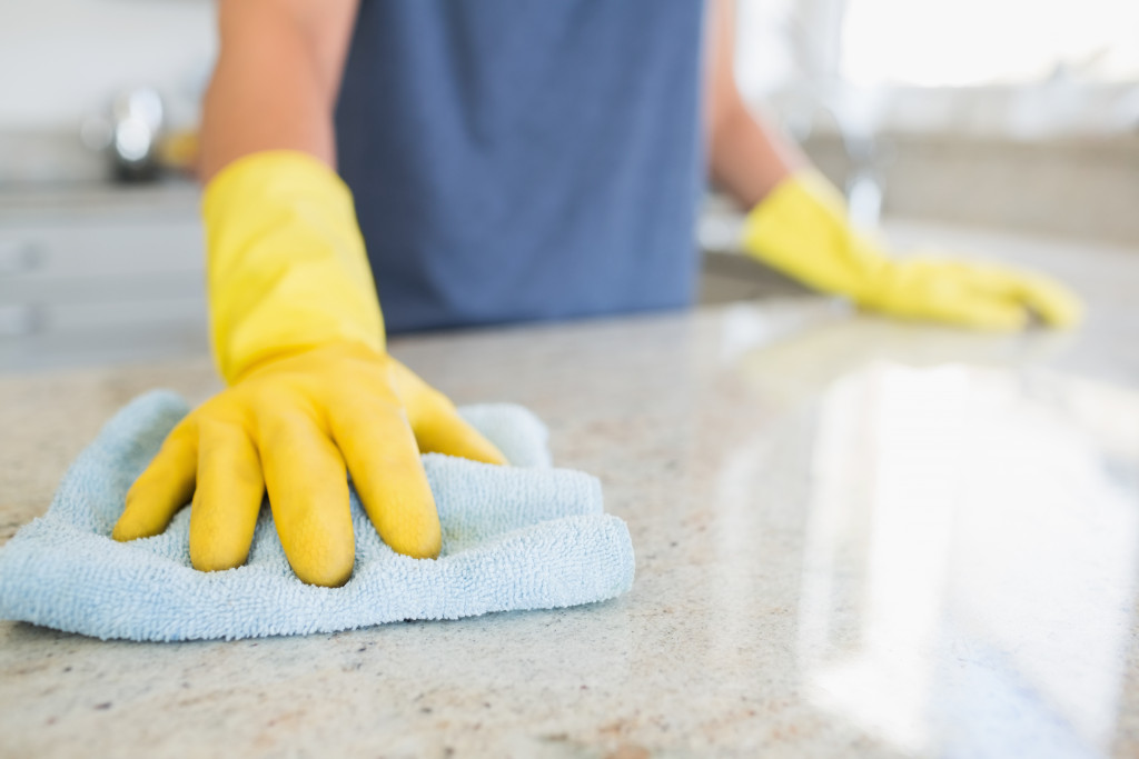 disinfecting surface